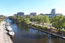 A nice view of the Rideau Canal in Ottawa Canada