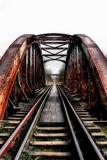 A old rusting railway bridge