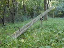 A old teeter totter
