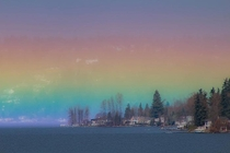 A once-in-a-lifetime shot of a Horizontal Rainbow that filled the whole sky