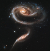 A pair of interacting galaxies called Arp