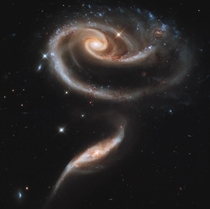 A pair of interacting galaxies - Hubble
