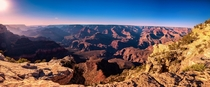 A panorama from the Grand Canyon