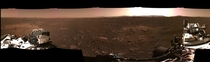 A panorama from the perseverance rover on Mars