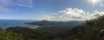 A Panorama I took on the top of the Morro da Juria the mountain thats a landmark in my city Peruibe Brazil