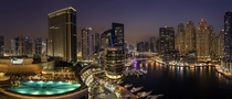 A panoramic view for the Dubai Marina