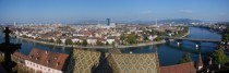 A panoramic view of Basel looking North from the Mnster tower over Kleinbasel smaller Basel