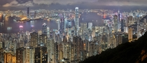 A panoramic view of the skyline of Hong Kong a city which has been considered the worlds worst for light pollution owing to its numerous spotlights and LED billboards Photo Samuel Louie edited by Carol Spears