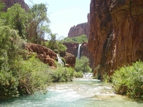 A peaceful picture I took downstream from Havasu Falls in Arizona