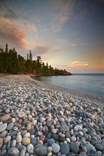 A pebble beach on Lake Superior near Wawa Ontario Canada  IGsarahfurch