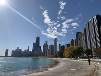 A perfect fall day in Chicago
