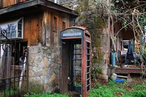 A phone booth in Mokelumne Hill California  by K Sakura