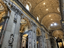 A photo from my recent visit to Saint Peters Basilica in Vatican City