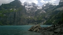 A photo I took of Lake Oeschinen in Kandersteg Switzerland