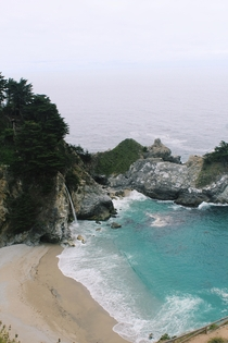 A photo I took of McWay Falls in Big Sur during my central coast road trip this weekend So magical