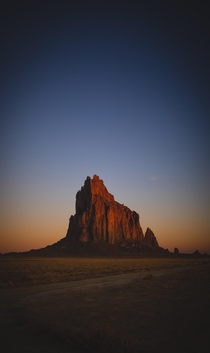 A photo I took of Shiprock also know as Ts Bita meaning rock with wings