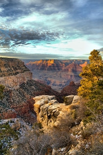 A photo I took this winter at the Bright Angel Trail of the Grand Canyon during sunset One of my personal bests