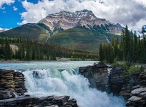 A photo of Athabasca falls from my trip to the Canadian Rockies last spring