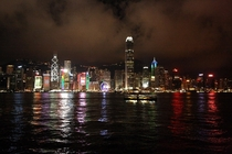 A photo of Hong Kongs skyline at night I took a few years back