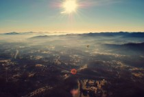 A photograph I took of Asheville NC while riding a hot air balloon with my GF