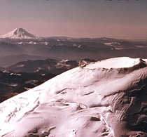 A Photograph of Mt Rainier with Mt Saint Helens in the distance photo taken by my Grandfather in