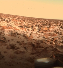 A pic that was taken by the Viking Lander on Mars  years ago