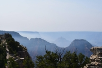 A picture from my familys vacation to the North Rim of the Grand Canyon last summer while wild fires were burning