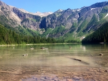 A picture from my trip to Montana this summer Avalanche Lake Glacier National Park