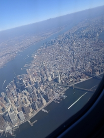 A picture I took flying into New York recently