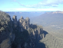 A picture i took of the Three sisters Blue mountains Australia