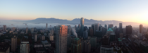 A picture I took this morning of fog rolling into downtown Vancouver BC