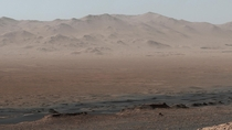 A picture of the martian surface near Mount Sharp taken by Curiosity Rover In this picture you can see most of the spots Curiosity visited so far