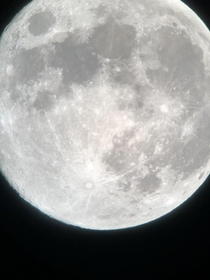 A picture of the moon from Melbourne Australia