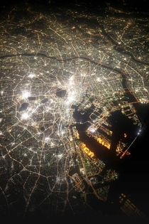 A picture of Tokyo Japan from outer space