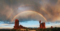 A picture of unexpected arches at Arches National Park by uGodLemon was on the frontpage earlier today With her permisson I centered and edited it a bit