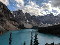 A pitstop on the way to work today first time to Moraine Lake Alberta Canada