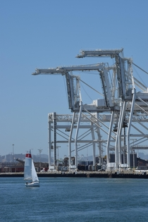 A popular myth in Oakland is that shipping cranes in the city inspired the AT-ATs in Star Wars OCx