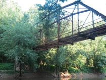 A pretty unique iron truss bridge near Leavenworth Indiana Its deck was removed when abandoned in the s full album in comments