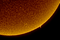A prominence on the Sun imaged in hydrogen-alpha