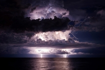 A quick forming storm over the Gulf of Mexico from Venice Florida One of the Weather Channels best photographs of  x OC