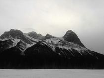 A quick shot on my phone Beautiful Canmore mountains