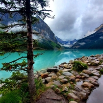 A quiet Lake Louise at Banff National Park Canada