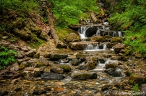 A quiet little waterfall at Waterton Lakes National Park Alberta