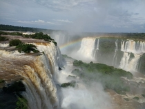 A rainbow at Foz do Iguazu Falls Brazil