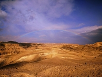 A rainbow in the Judaean Desert Israel
