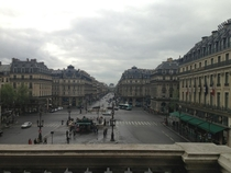 A rainy day in Paris as seen from the Palais Garnier oc  x