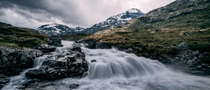 A rainy day in the middle of Jotunheimen National Park Norway