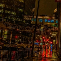 A rainy evening in Chicago