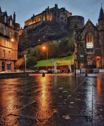 A rainy night in Edinburgh