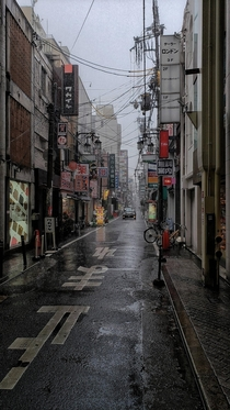 A rainy Osaka side street OC